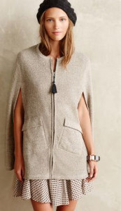 Anthropologie neutral cape