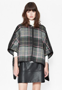 french connection plaid cape