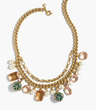 j crew charm necklace